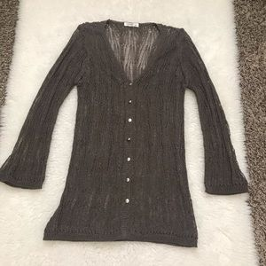 Vintage Chanel Knitted CC buttons Long Cardigan